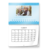 Calendrier mural double-page design A3